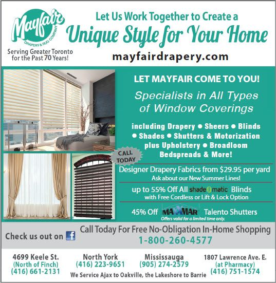 Summer 2020 Mayfair Drapery specials